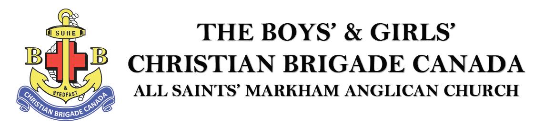 The Boys' & Girls' Christian Brigade Canada - All Saints' Markham Anglican Church